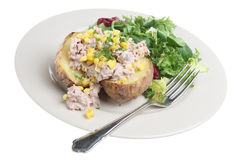 Baked Potato with Tuna Stock Image
