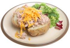 Baked Potato with Tuna & Cheese Stock Photo