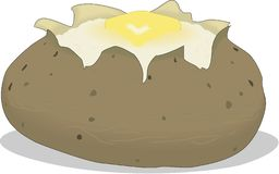 Free Baked Potato Vector Illustration Stock Photos - 134252813