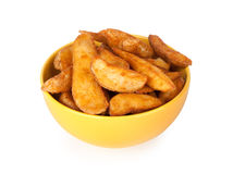Baked potato wedges Royalty Free Stock Images