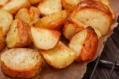 Baked potato wedges Stock Photography