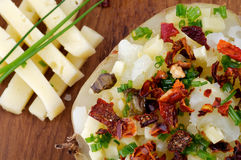 Baked Potato With Cheese Stock Image