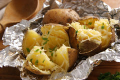 Baked Potatoes. Royalty Free Stock Photos
