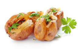 Baked potatoes Royalty Free Stock Image