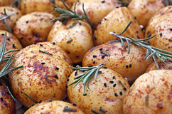 Baked  potatoes Stock Photos