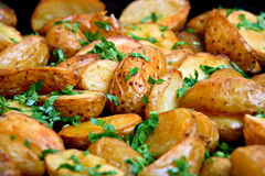 Baked potatoes Stock Image
