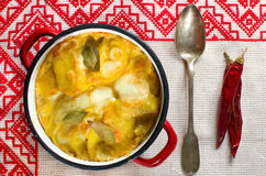 Baked potatoes Stock Image