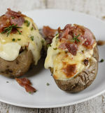 Baked Potatoes Stock Photography