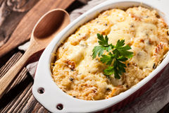 Baked potatoes with cheese Royalty Free Stock Image
