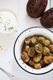 Baked potatoes Stock Photos