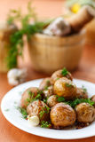 Baked potatoes Stock Photography