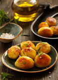 Baked potatoes with rosemary Stock Images