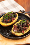 Baked potatoes stuffed with meat Royalty Free Stock Photos