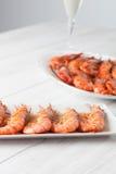Baked prawn dish Royalty Free Stock Image