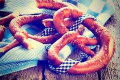 Baked pretzel Stock Photos