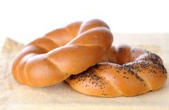 Baked pretzel Stock Image