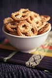 Baked pretzels with sesame royalty free stock image