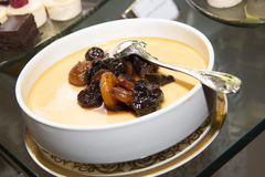 Baked pudding with apricot Arabic sweet Royalty Free Stock Photo