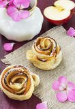 Baked puff pastry Stock Photos