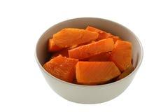 Baked pumpkin an a bowl Stock Photos