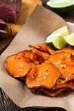 Baked pumpkin chips Stock Image