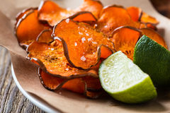 Baked pumpkin chips Stock Photography