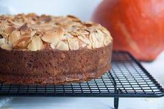 Pumpkin pie with almond royalty free stock photos