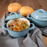 Baked pumpkin in a pot Royalty Free Stock Image