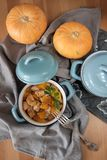 Baked pumpkin in a pot Stock Photography