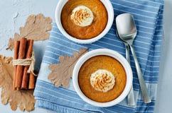 Baked Pumpkin pudding Stock Image