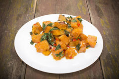 Baked pumpkin Stock Image