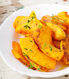 Baked pumpkin with thyme Royalty Free Stock Images
