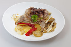 Baked quail Royalty Free Stock Photo