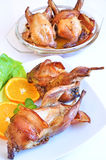 Baked quails Stock Image