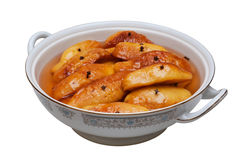 Baked quince on a bowl Royalty Free Stock Images