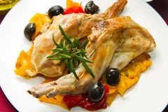 Baked rabbit Royalty Free Stock Images