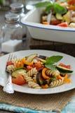 Baked ratatouille pasta Stock Photo