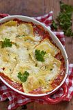 Baked ravioli in tomato sauce Royalty Free Stock Photo