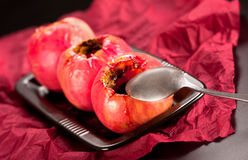 Baked red apples Stock Photo