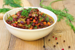 Baked red beans Royalty Free Stock Image