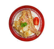 Baked red grouper Royalty Free Stock Photography