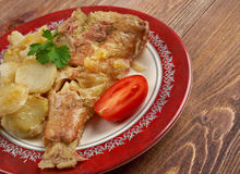 Baked red grouper Stock Image