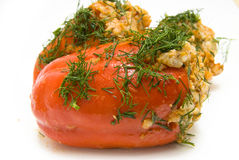 Baked red pepper Royalty Free Stock Images