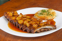 Baked Ribs with Pineapple Stock Images