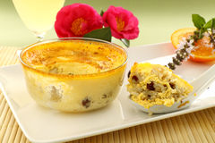 Baked Rice Custard Stock Image