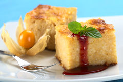 Baked Rice Pudding Stock Images