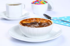 Baked Rice Pudding with coffee Stock Photo