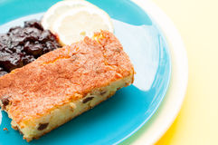 Baked rice pudding dessert Royalty Free Stock Images