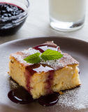 Baked rice pudding with syrup Royalty Free Stock Images
