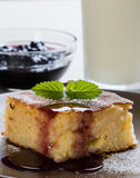 Baked rice pudding with syrup Royalty Free Stock Photography